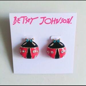 """Betsey Johnson """" Ladybug """" Stud Earrings"""